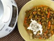 Вегетарианска яхния от зелен фасул (боб) в Делимано Мултикукър